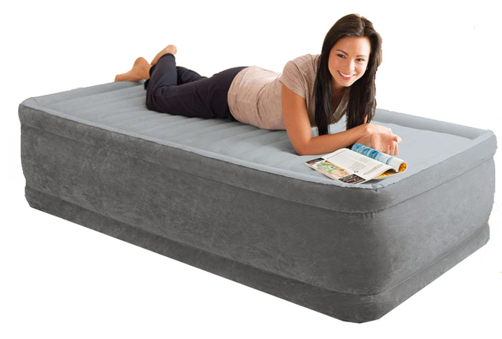 Intex air bed intex queen or twin pillow rest airbed - Sofa gonflable decathlon ...