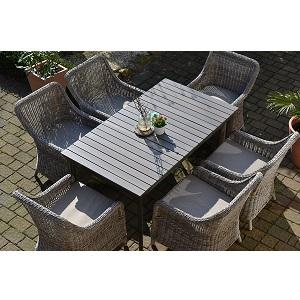 Als Testsieger Und Somit Bestes Gartenmöbel Set Hat Sich Die Como 6  Sitzkombination Der Firma Borney Durchgesetzt. Das Set Besteht Aus Einem  Großen Tisch In ...