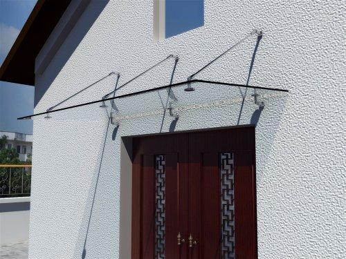 Aluminium Kunstoff Hausdächer Türvordach Vorsichtig Glasvordächer Edelstahl