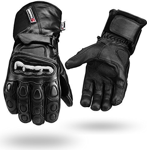 XL Kn/öchel gepolsterte Kurze Leder Motorrad Handschuhe